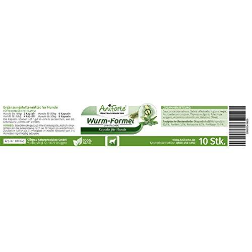 AniForte Wurm-Formel 10 Kapseln- Naturprodukt für Hunde - 4