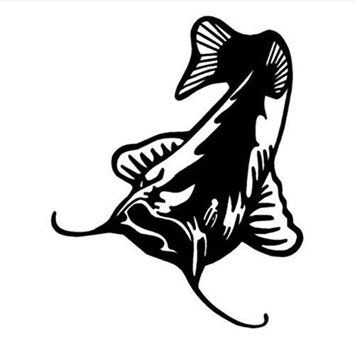 Lovemq Wandaufkleber 47 * 57 Cm Wels Fisch Fenster Dekoration Tier Auto Aufkleber Coole Auto Wohnkultur Wandaufkleber Muursticker Adesivo De Parede -