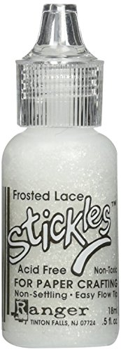 Ranger Frosted Spitze Stickles, weiß Frosted Dots