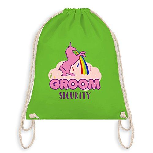 JGA Junggesellenabschied - JGA Groom Security Einhorn - Turnbeutel I Gym Bag Hellgrün