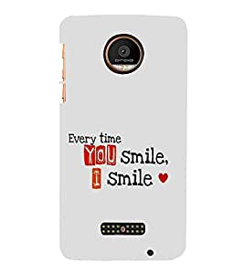 FUSON You Smile I Smile 3D Hard Polycarbonate Designer Back Case Cover for Motorola Moto Z Force :: Motorola Moto Z Force Droid for USA