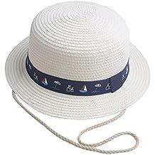 Amazon.es  sombrero paja niño - Blanco 51f78ee91fd