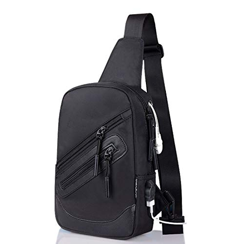 DFVmobile - Backpack Waist Shoulder Bag Nylon Compatible with Ebook, Tablet and for DIGMA Linx Argo 3G (2019) - Black