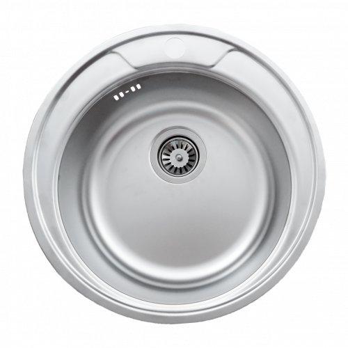 Runde Einbauspüle Mizzo Design 375 mit Siphon - Spülbecken rund Passend ab 45er Unterschrank - Edelstahlspüle / Auflagespüle / Küchenspüle