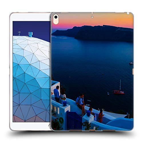 Head Case Designs Offizielle Haroulita Terrasse Santorini Sonnenuntergang Soft Gel Huelle kompatibel mit iPad Air (2019) - Terrasse Sonnenuntergang