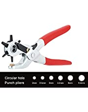 Inditradition Metal Punch Plier Repair Tool | Multipurpose Revolving Hole Punch Hand Tool, 6 Sizes Hole Plier