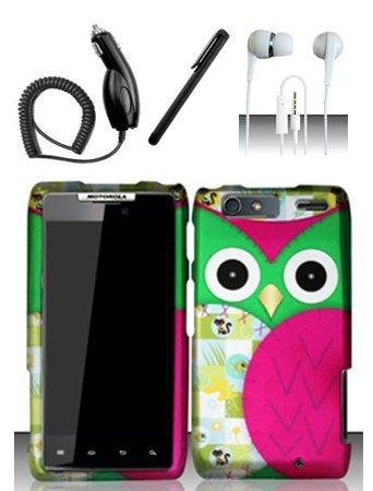 4-items-combo-for-motorola-droid-razr-maxx-xt913-xt916-verizon-colorful-pink-owl-2d-design-hard-case