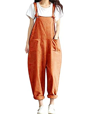 BBYES Jacansi Women Loose Overall Strap Sleeveless Long Playsuit Jumpsuit Dungarees 8 Colors M-5XL