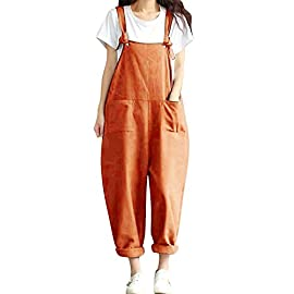 BBYES Jacansi Women Loose Overall Strap Sleeveless Long Playsuit Jumpsuit Dungarees