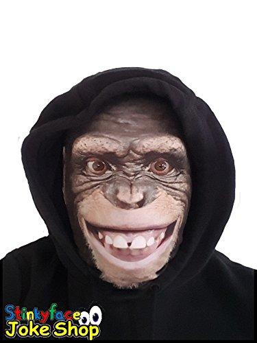Monkey Full Head Maske Realistische Tier gedruckt Lycra -