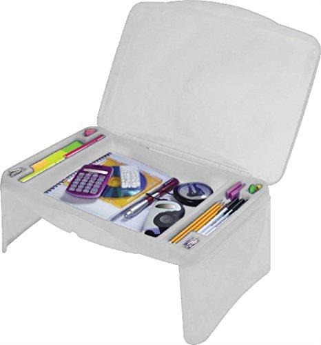Blanc enfants Portable pliant Lap Desk Plateau de stockage de table pour ordinateur portable école Home