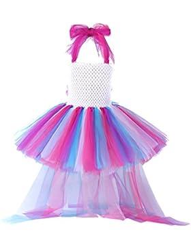 Pettigirl Ragazze Principessa Piccolo cavallo Abito Tutu Unicorno Arcobaleno Festa di compleanno Costume Vestito...