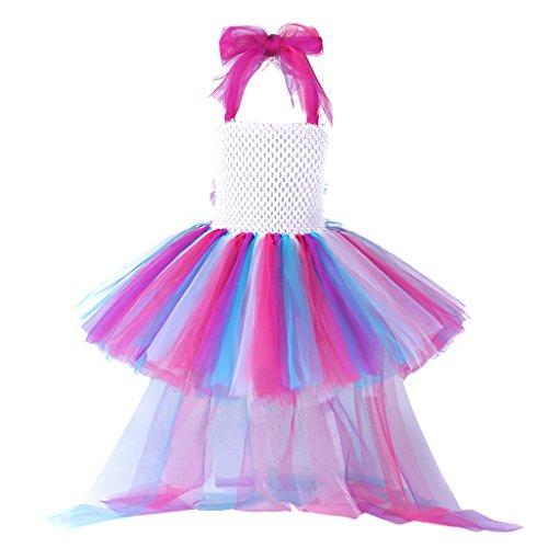 Pettigirl ragazze principessa piccolo cavallo abito tutu unicorno arcobaleno festa di compleanno costume vestito da halloween per bambini