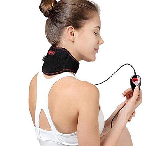 CHEN USB Zervikal Hals Schulter Massager, Elektrische Heizung + Selbsterhitzung Ferninfrarot-Thermotherapie Warm halten Halskrause - Beheizte Wellness-kissen