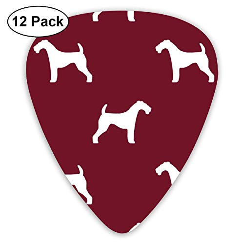 houette Dog Ruby Classic Celluloid Picks, 12-Pack, For Electric Guitar, Acoustic Guitar, Mandolin, And Bass ()