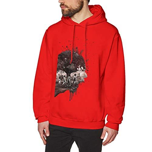 Harrisontdavison Herren Baumwolle Graphic Hoody Pop The Walking Dead Red Langärmliges Sweatshirt 3XL -