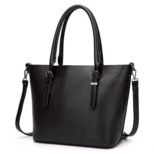 BEKILOLE , Damen Henkeltasche Gr. One size, schwarz (Satchel Guess-handtaschen-top-zip)