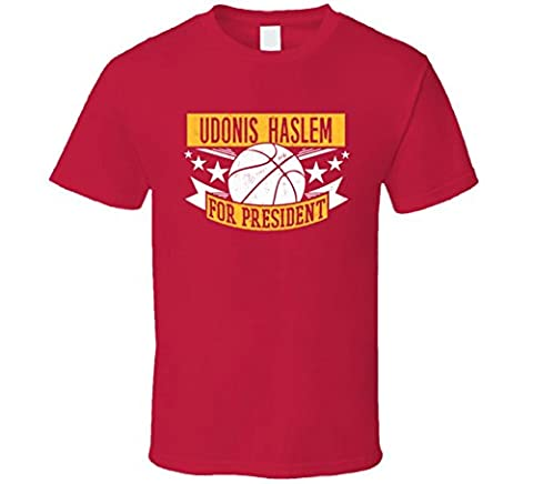 Udonis Haslem For President Miami Basketball Player Sports T Shirt XLarge