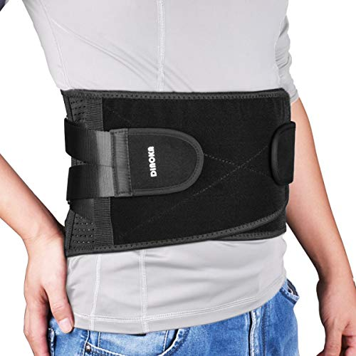 Supporto lombare per la schiena, postura, terapia per uomini e donne per alleviare dolori lombari sciatica, dorso scoliosi, lesioni, doppia regolabile traspirante lombare cintura