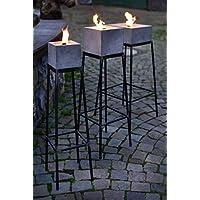 Ständer aus Stahl für Betonfeuer der Beske-Manufaktur | Ständer für Betonfeuer der Größe 13x13x13, 17x17x17 und 24x24x13 | Höhe 60cm | 100% Handarbeit 'Made in Germany'