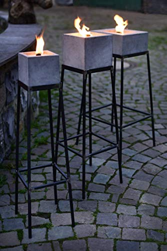 Ständer aus Stahl für Betonfeuer der Beske-Manufaktur   Ständer für Betonfeuer der Größe 13x13x13, 17x17x17 und 24x24x13   Höhe 60cm   100% Handarbeit 'Made in Germany' - Rechteckige Stahl