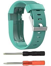 Malloom Reemplazo Banda de Silicona Correa de Goma Pulsera Brazalete para Fitbit Charge HR, Talla