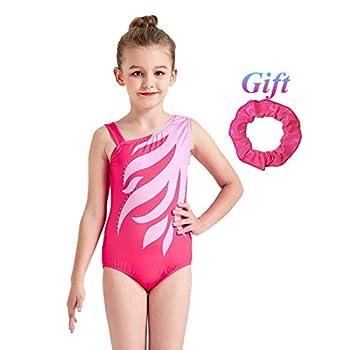 7a85349af Hougood Gymnastic Leotards for Girls One-piece Ballet Dance Bodysuit ...