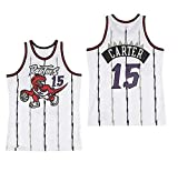 LLZYL Cooles, Atmungsaktives Material, NBA Toronto Raptors 15# Vince Carter Vintage All-Star-Trikot, Herren- Und Unisex-Basketball-Shorts, T-Shirt-Trikot,Weiß,M:175cm/65~75kg