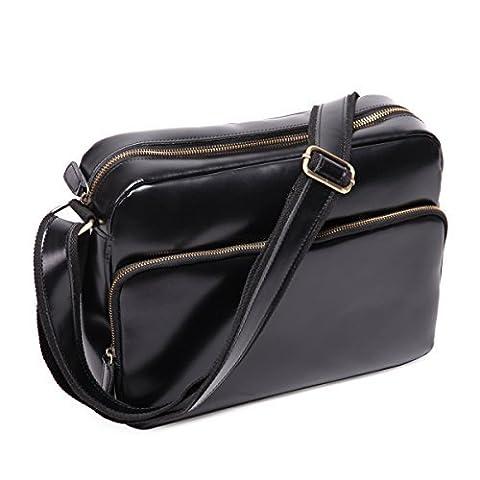 Leathario sac en cuir,sac homme,sac bandoulière,sac à épaule en cuir