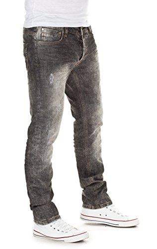 Yazubi Herren Jeans, Modell Dexter, Destroyed mid acid grey