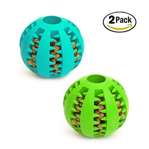 idepet Hundeball, Spielzeug, ungiftiges Beiß-Spielzeug für Hunde/Welpen/Katzen, zur Zahnreinigung, mit Futter, als Trainings-Ball, zum IQ-Training