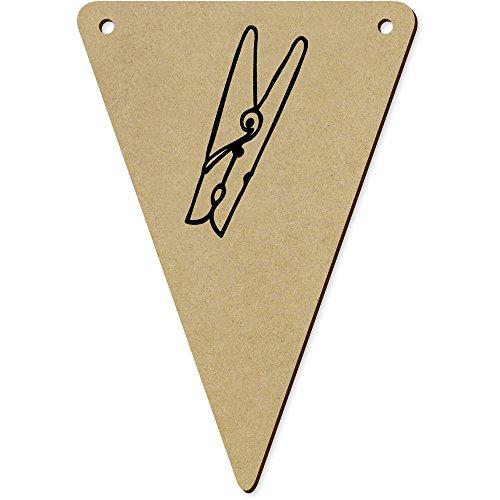 Azeeda 5 x 140mm 'Pince à Linge' fanions Triangles en Bois (BN00020379)