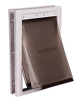 PetSafe - Porte pour Animaux pour Conditions climatiques extrêmes (M) - Chatière pour Chien Moyen, Economie d'Energie, Très Isolante, Triple protection Contre le Froid et le Chaud - S / M / L