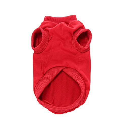 Dragon868 Hund Pullover Einfache Pure Farbe Herbst T-Shirt kleine Hund Katze Haustierrand