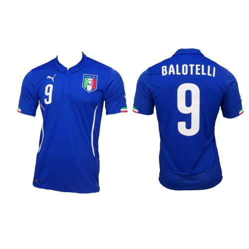 Puma Italien Home Trikot WM 2014 Mario Balotelli Herren Blau, 7472490101_Größe:S