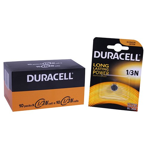 Duracell DL 1/3 N Lithium 3 V Non-Rechargeable Battery - Non-Rechargeable Batteries (Lithium, Button/Coin, Silver)
