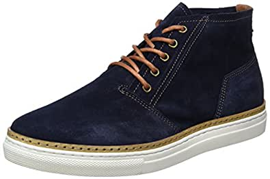 CAS Suede Boot 64-71502, Mens Hi-Top Trainers Bianco
