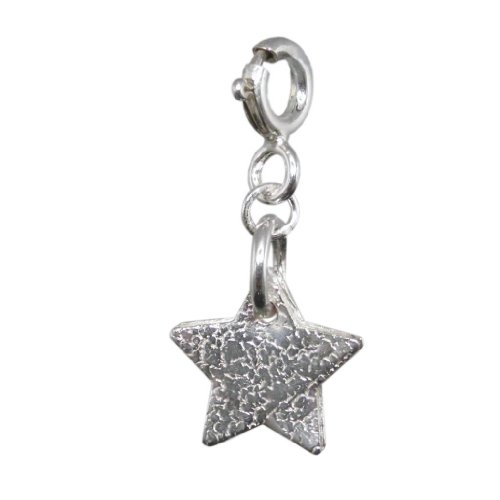 Silver Star Charm |Handmade 925 Sterling | Adults / Child's| FREE Delivery in UK Gift Wrapped Gifts