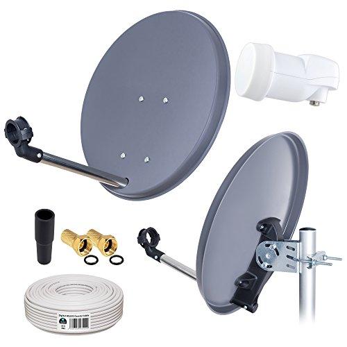 Anlage 40cm Schüssel + Opticum LNB 0,1 10m für HDTV UHD 3D 4K geeignet ()