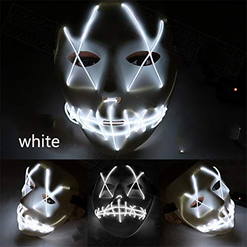 HITSAN INCORPORATION Halloween Mask LED Light Up Funny Mask Election Year Great Festival Cosplay Costume Cosplay Party Mask Cosplay Decoration