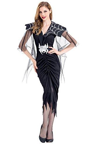 Frauen Halloween Sexy Cosplay Kostüm Schwarze Spinne Lace -