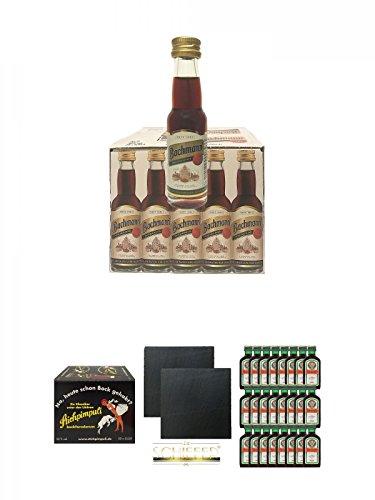 Bachmann 20 x 0,02 + Stichpimpuli 20 x 0,02 Liter + Jägermeister 24 x 4 cl Geschenkset