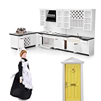 Homyl 1/12 Scale Luxury Dollhouse Miniature Furniture Kit Kitchen Dining Room Accessories Decoration