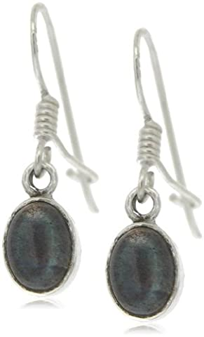 Nova Silver Bemine Small Oval Labradorite Earrings