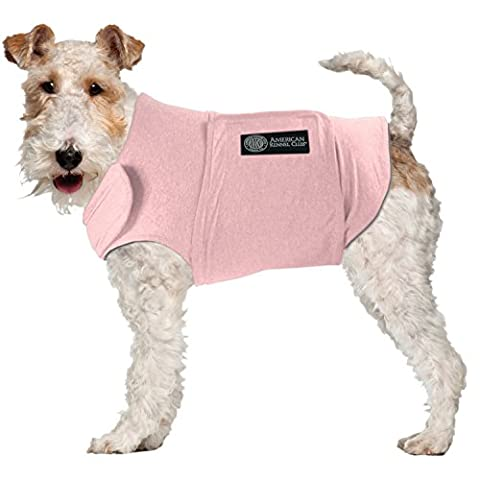 American Kennel Club Calm Anti-Anxiety and Stress Relief Coat for Dogs, X-Large, Pink