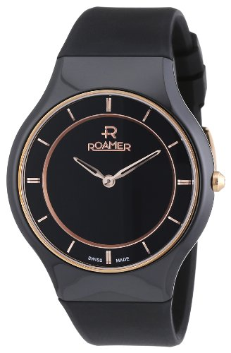Roamer Women's Quartz Watch CERALINE PASSION 684830 SCK3 with Rubber Strap