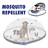 FinukGo Collare per Cani Pet Anti Anti-pulci zecche zecche Collari Anti-repulsione per Insetti Protezione Acari Collari Impermeabili Regolabili - Grigio
