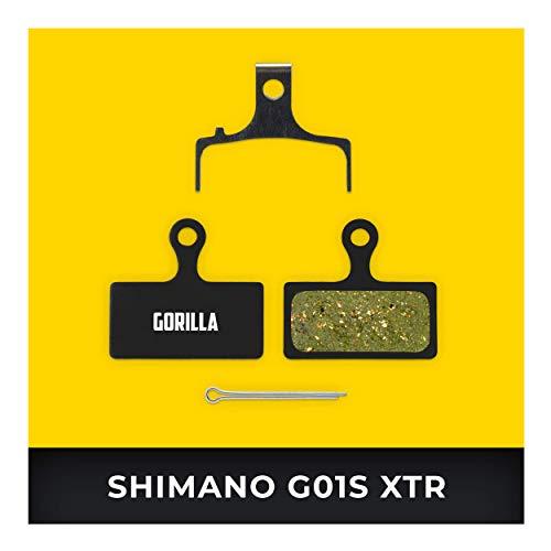 Shimano Bremsbeläge G01S XTR BR-M9000 M987 M985 XT M8000 M785 SLX M675 M666 Deore M615 für Fahrrad Scheibenbremse I Hohe Bremsleistung I Langlebiger & Passgenauer Bremsbelag I Organischer Belag