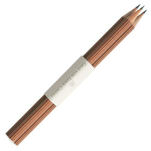 Graf von Faber-Castell Bleistifte Nr III Bezeichnung der Härte, B Stift mit Tauchkappe, braun -