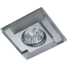 Empotrable de cristal cuadrado Fijo, colección Luxor de Cristalrecord (Válido para Halógeno y Led